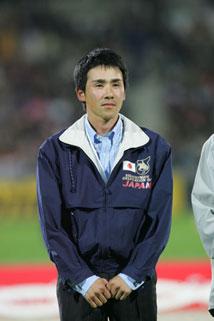 表彰台での大岩義明選手(lクロスカントリーで「DHL賞」を受賞)