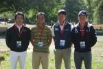 左から、大岩、根岸、弓良、佐藤の4選手